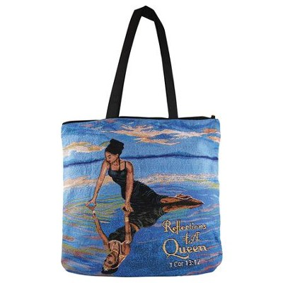 Reflections of a Queen, 1 Corinthians 13:12, Tote Bag  -