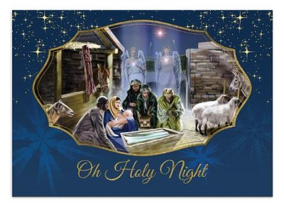 holy night nativity christmas cards box of 15 by reggie duffie - Nativity Christmas Cards