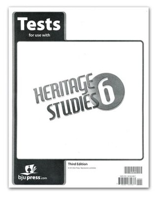 BJU Heritage Studies Grade 6 Test Pack (Third Edition)    -