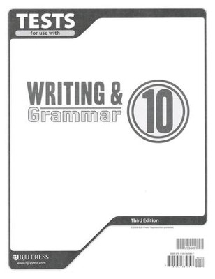 BJU Writing & Grammar Grade 10 Tests, Third Edition    -