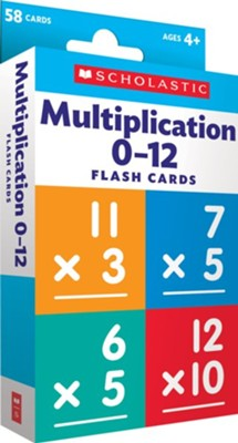 Flash Cards: Multiplication 0 - 12  -
