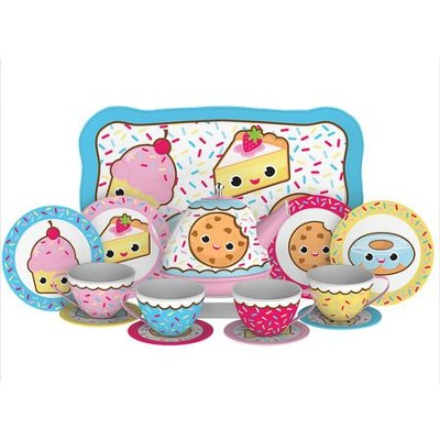 Pastry Tin Tea Set, 15 Pieces  -