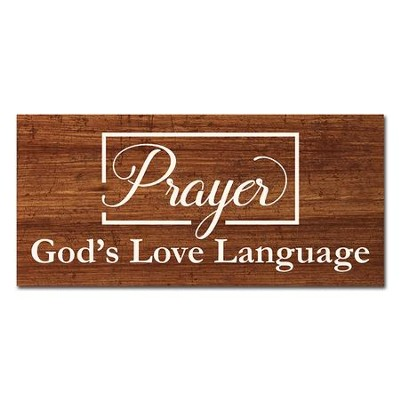 God's Language Wall Plaque  -