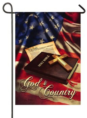 God and Country Flag, Small  -     By: Greg & Co.