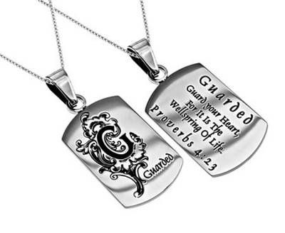 Guarded, Letter Dog Tag   -