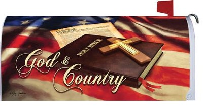 God and Country Mailbox Cover  -     By: Greg & Co.