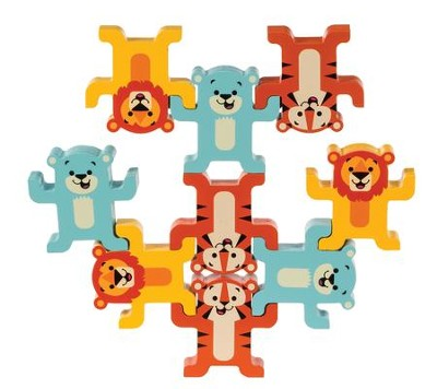 Stack and Play Wood Animals, Lions, Tigers and Bears  -