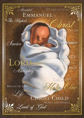 Names of Christ Christmas Cards, African American , Box of 15  -