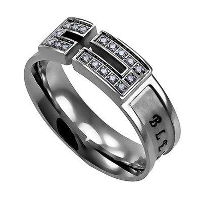 Bless, Canale Women's Ring with Cubic Zirconium, Size 5 (Psalm 34:8)  -