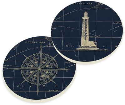 Nautical Car Coasters, Set of 2  -