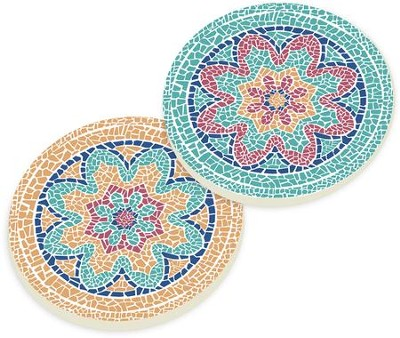 Mosaic Car Coasters, Set of 2  -