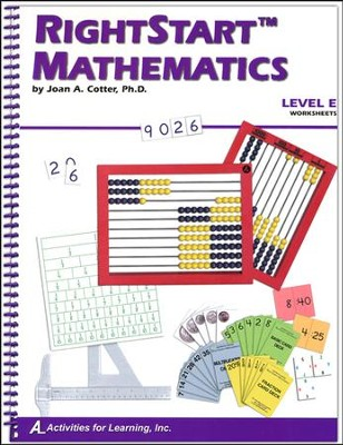 RightStart Mathematics Level E Worksheets, 1st Edition   -     By: Joan A. Cotter Ph.D.