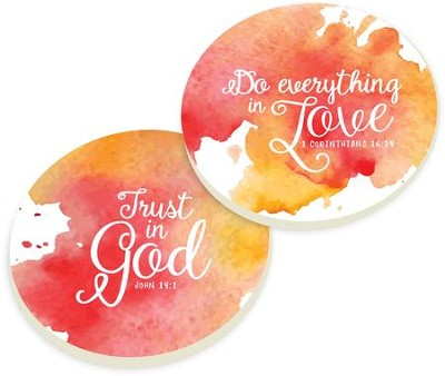 Everything in Love Car Coasters, Set of 2  -