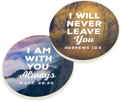 Nature Verse Car Coasters, Set of 2  -