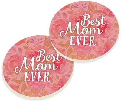 Best Mom Ever Car Coasters, Set of 2  -