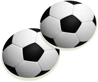 Soccer Ball Car Coasters, Set of 2  -