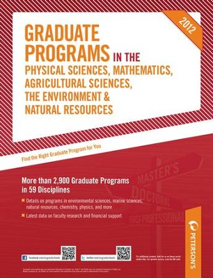 Peterson's Graduate Programs in the Physical Sciences, Mathematics, Agricultural Sciences, the Environment & Natural Resources 2012 - eBook  -     By: Peterson's