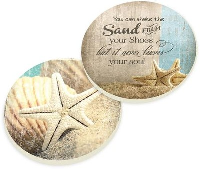Sand Car Coasters, Set of 2  -