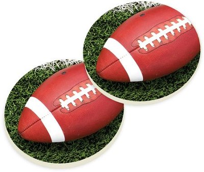 Football Car Coasters, Set of 2  -