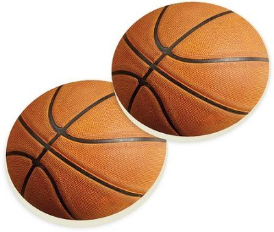 Basketball Car Coasters, Set of 2  -