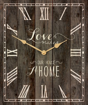 Love Makes A Home, Pallet Clock  -