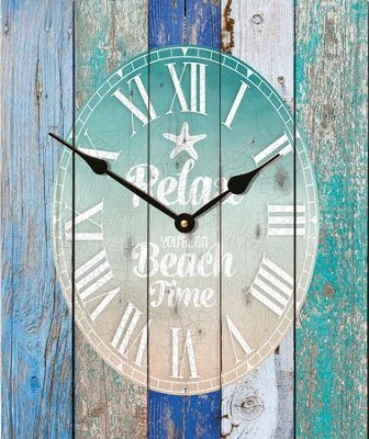 Relax You're On Beach Time, Pallet Clock   -