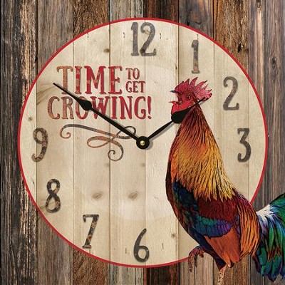 Time To Get Crowing Clock  -