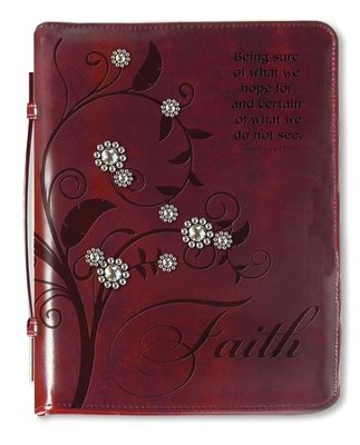 Tree Of Faith, Bible Cover, Burgundy, Large  -