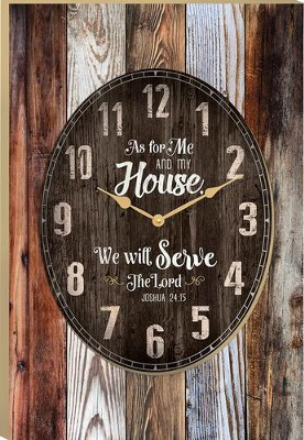 As For Me and My House, We Will Serve the Lord Clock  -