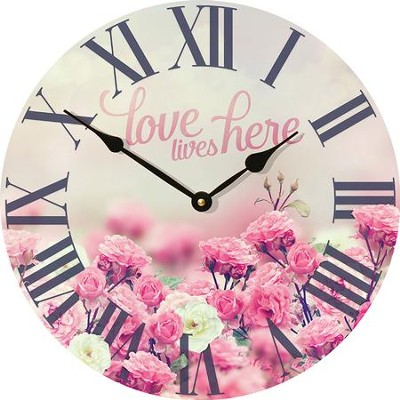 Love Lives Here Clock  -