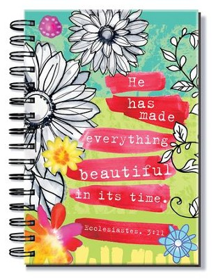 He Has Made Everything Beautiful In Its Time, Floral Journal  -