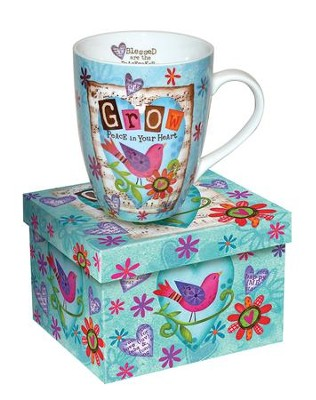 Grow Peace In Your Heart, Bird Mug  -