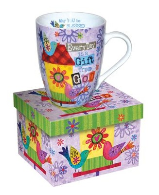 Everyday Is A Gift From God, Birdhouse Mug  -