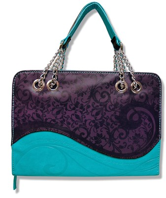 Strength and Majesty Bible Cover, Purple and Teal, X-Large  -