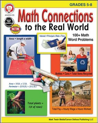 Mark Twain Math Connections to the Real World, Grades 5-8  -