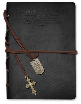 Hombre de Dios, Diario con Dijes, Negro  (Man of God, Journal with Charms, Black)  -