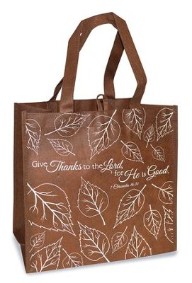 Give Thanks To the Lord Eco Tote Bag, Brown  -