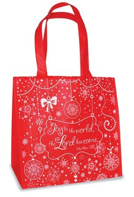 Joy To the World Eco Tote Bag, Red  -