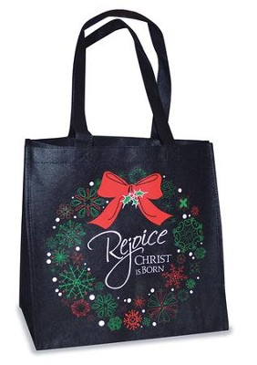 Rejoice Christ Is Born Tote Bag, Black  -
