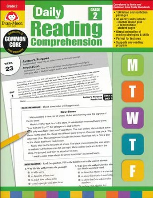 Daily Reading Comprehension, Grade 2  -