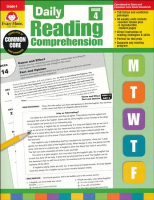 Daily Reading Comprehension, Grade 4  -