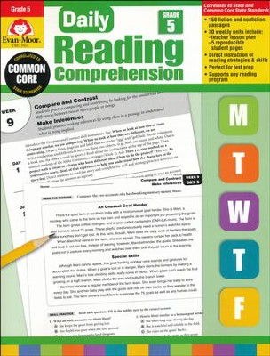 Daily Reading Comprehension, Grade 5  -