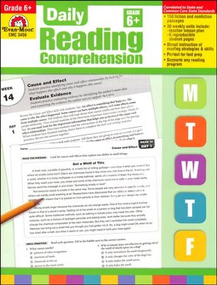 Daily Reading Comprehension, Grade 6  -