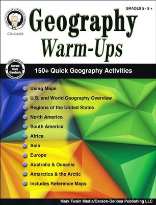 Geography Warm-Ups, Grades 5-8+   -