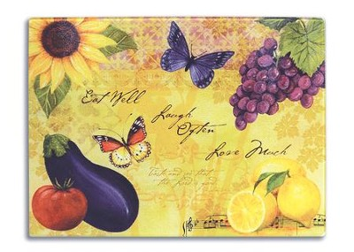 Eat Well, Laugh Often, Love Much Cutting Board  -