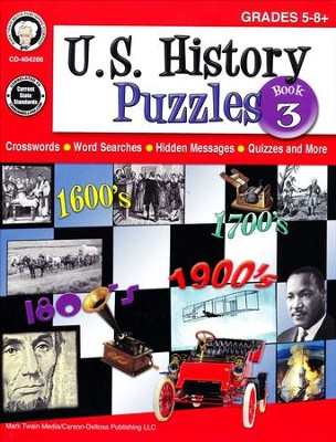 U.S. History Puzzles, Book 3--Grades 5 to 8   -