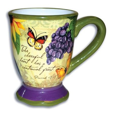 The Cheerful Heart Has A Continual Feast Mug  -