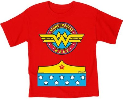 Wonderfully Made Shirt, Red, Youth Large  -