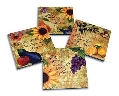 This Kitchen Is Seasoned With Love Coasters, Set of 4  -