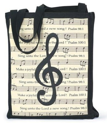 Make a Joyful Noise, Music Tote Bag   -